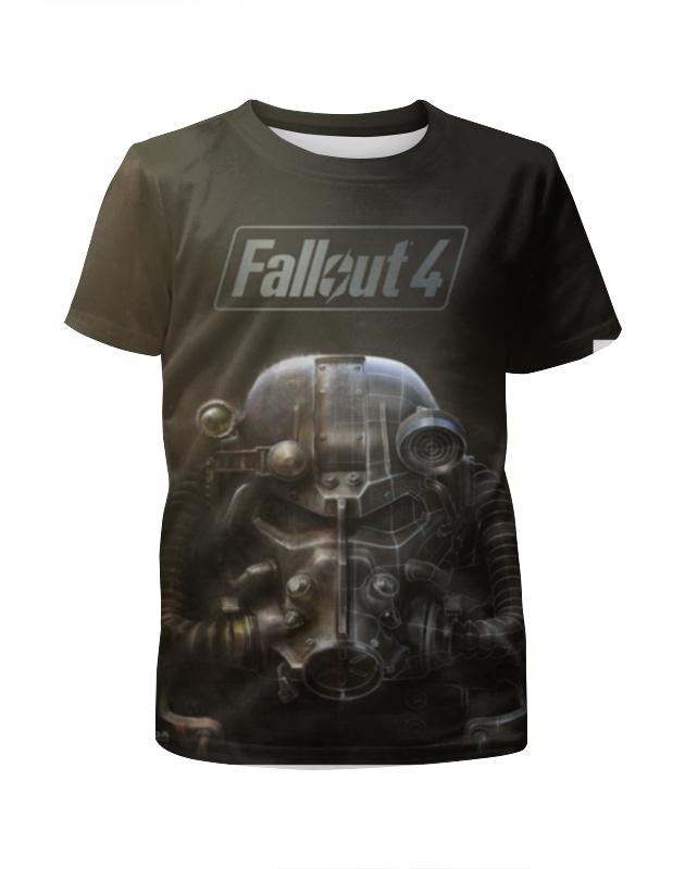 Футболка с полной запечаткой для девочек Printio Fallout 4 чехол для iphone 4 глянцевый с полной запечаткой printio нонна