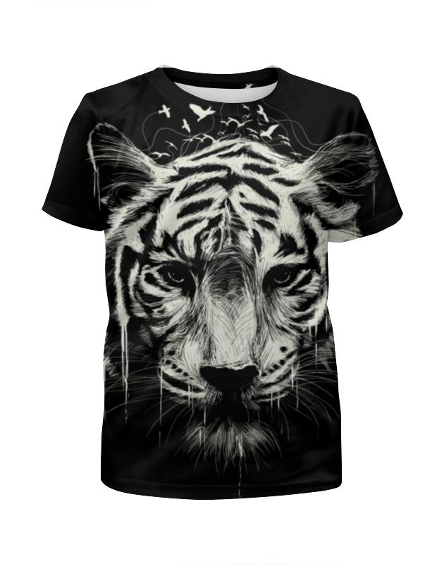Футболка с полной запечаткой для девочек Printio Бенгальский тигр футболка с полной запечаткой для девочек printio одноглазый тигр