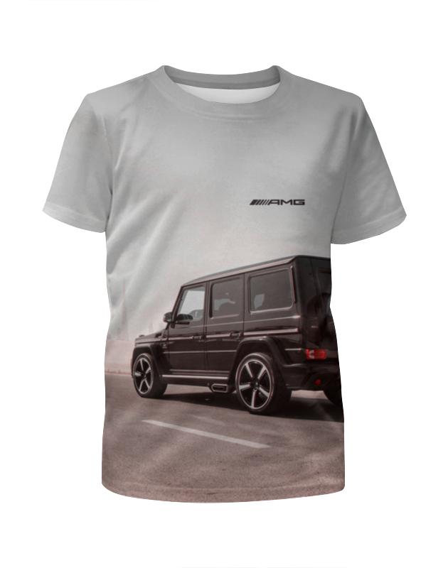 цена на Футболка с полной запечаткой для девочек Printio Mercedes benz ///amg (гелендваген)