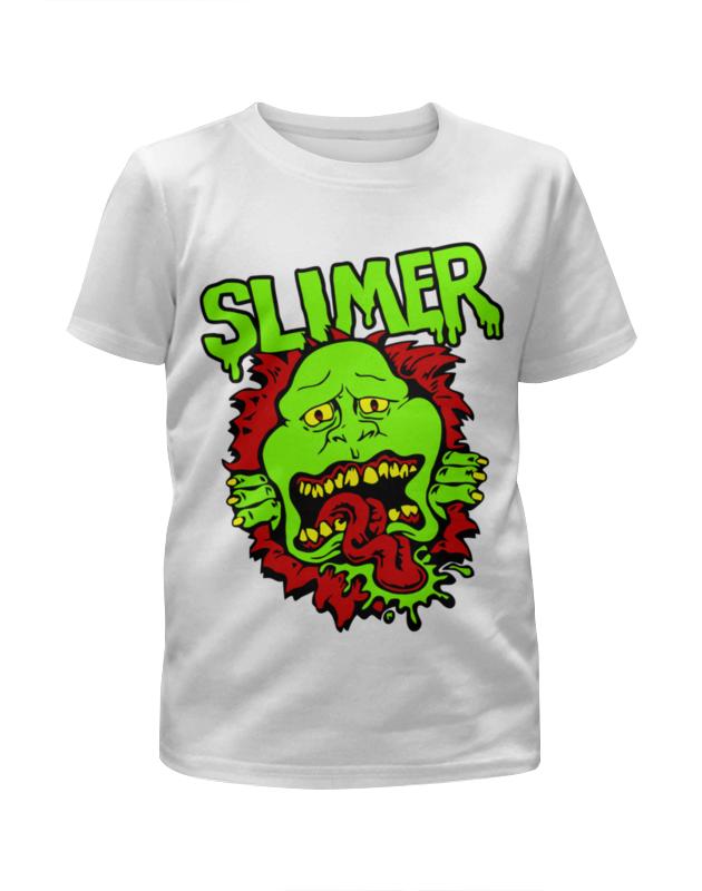 Футболка с полной запечаткой для девочек Printio Лизун (slimer) футболка с полной запечаткой женская printio лизун slayer