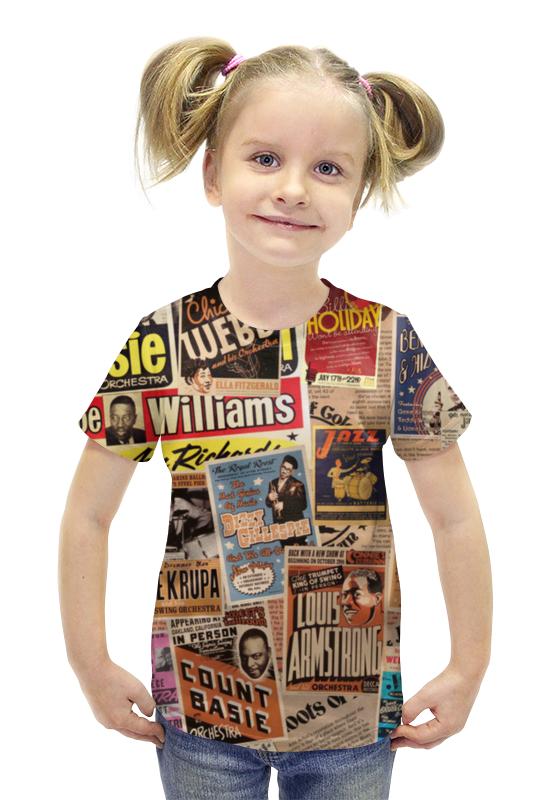 Футболка с полной запечаткой для девочек Printio Jazz legends футболка с полной запечаткой для мальчиков printio jazz legends