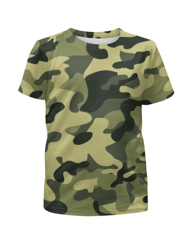Футболка с полной запечаткой для девочек Printio Камуфляж футболка камуфляж