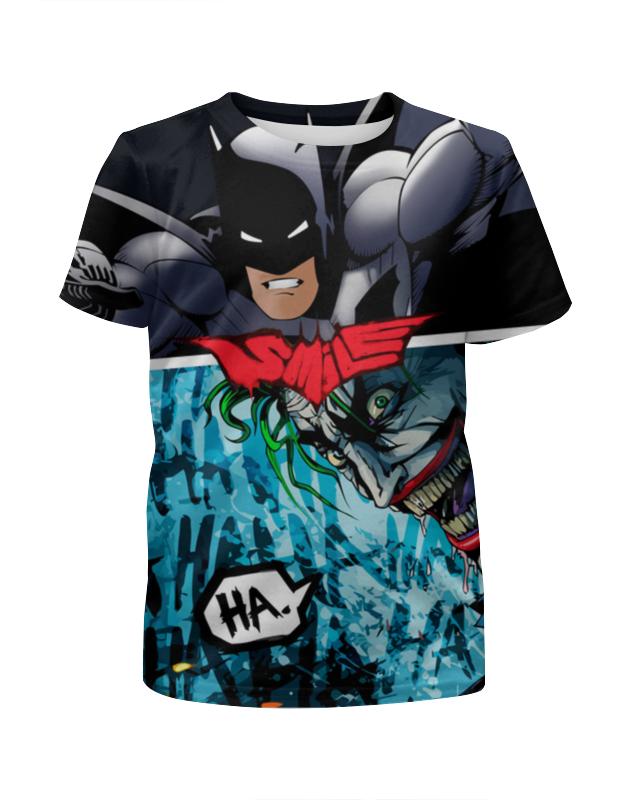Футболка с полной запечаткой для девочек Printio Smile (batman vs. joker) лонгслив printio batman x joker