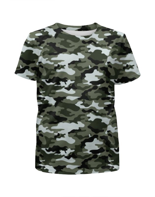 Футболка с полной запечаткой для девочек Printio Камуфляж 3 футболка с полной запечаткой для девочек printio тачки 3