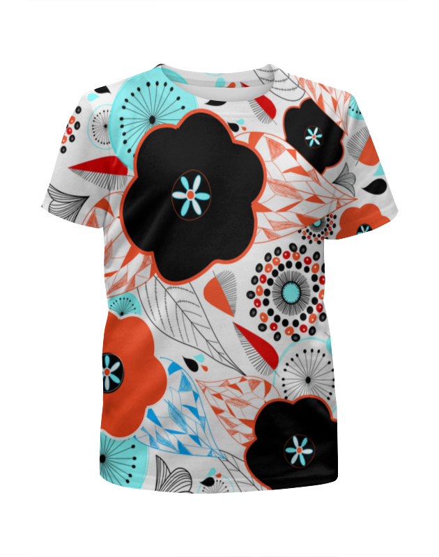 Футболка с полной запечаткой для девочек Printio Цветочный узор футболка с полной запечаткой для девочек printio spawn