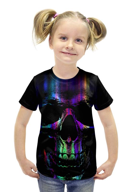 Футболка с полной запечаткой для девочек Printio Череп футболка с полной запечаткой для девочек printio пртигр arsb