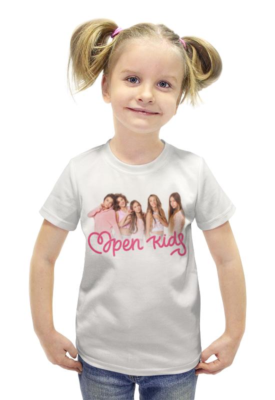 Футболка с полной запечаткой для девочек Printio Open kids kenzo kids летние юбки для девочек