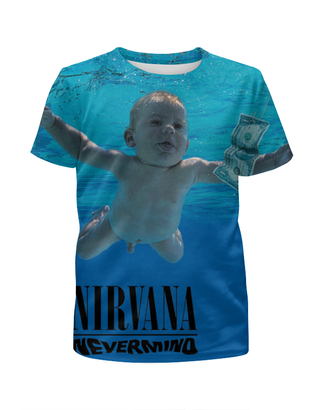 Футболка с полной запечаткой для девочек Printio Nirvana nevermind full print