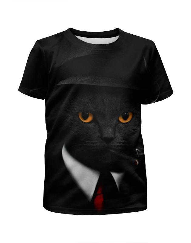 Футболка с полной запечаткой для девочек Printio Агент кот футболка с полной запечаткой для девочек printio кот и пес