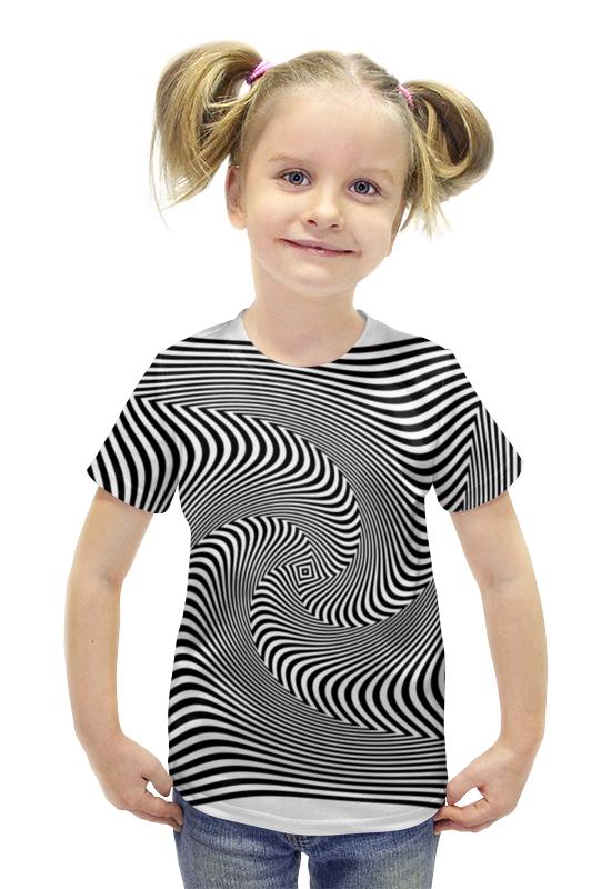 Футболка с полной запечаткой для девочек Printio Иллюзия футболка с полной запечаткой для девочек printio рианна