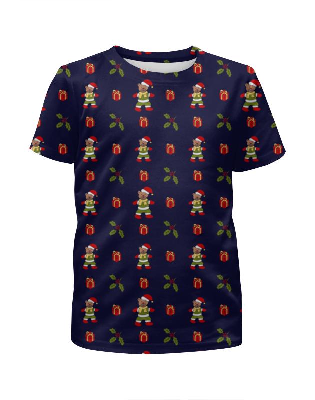 Футболка с полной запечаткой для девочек Printio Новогодняя футболка с полной запечаткой для девочек printio overlord