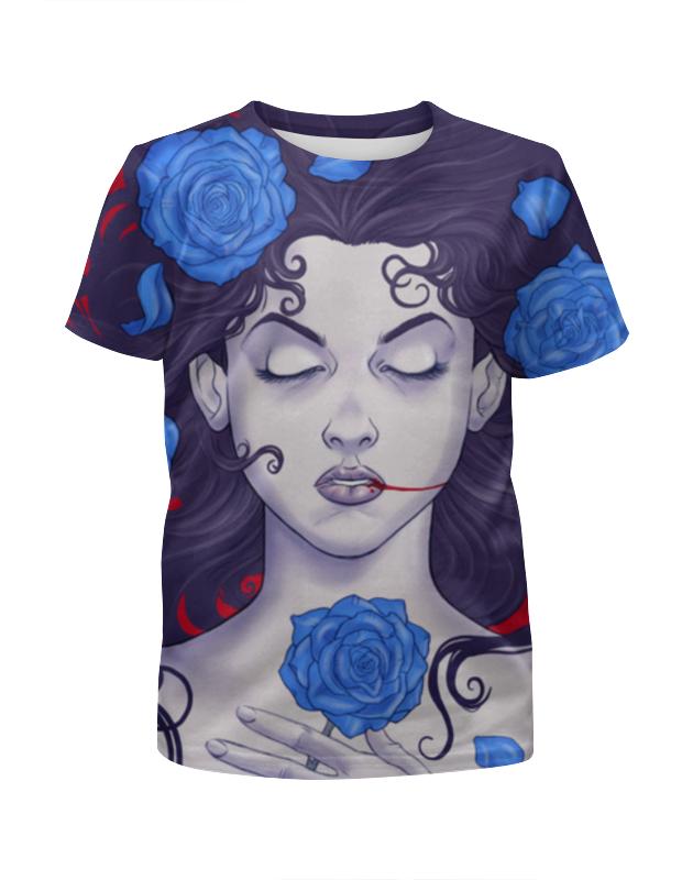 Футболка с полной запечаткой для девочек Printio Спящая красавица футболка классическая printio спящая красавица