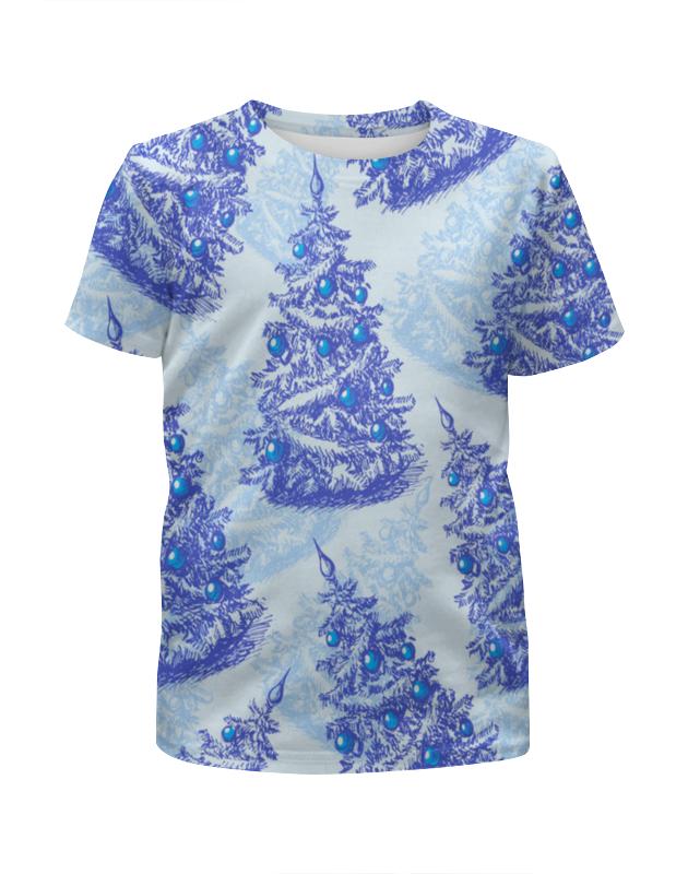 Футболка с полной запечаткой для девочек Printio Снежные елки футболка с полной запечаткой для девочек printio пртигр arsb