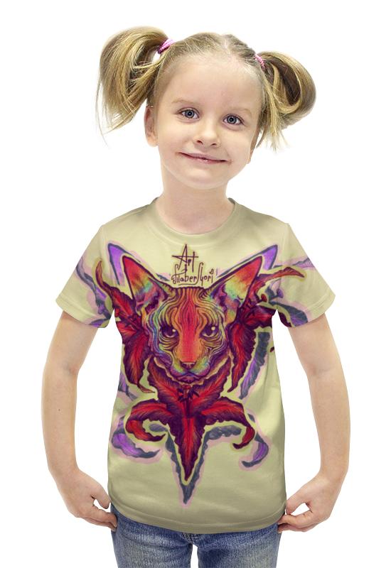 Футболка с полной запечаткой для девочек Printio Crazycat футболка с полной запечаткой для девочек printio пртигр arsb