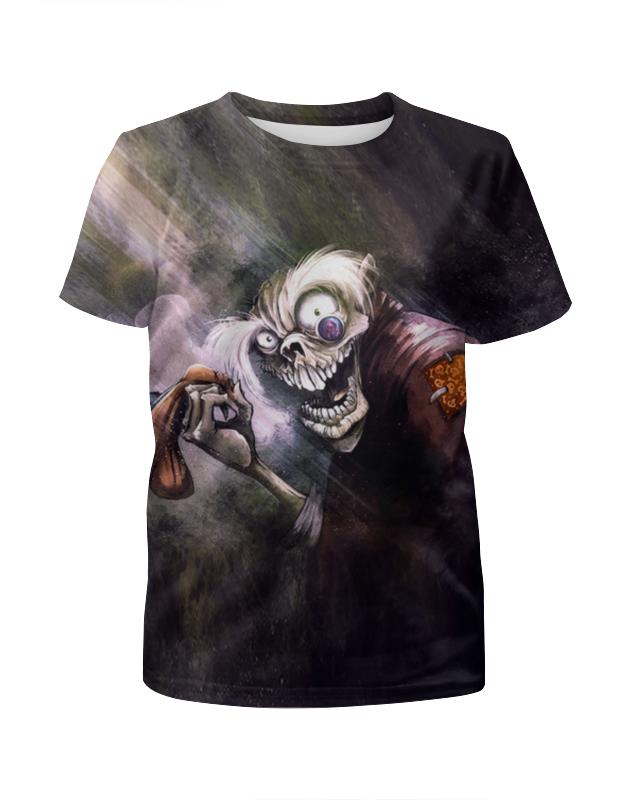 Футболка с полной запечаткой для девочек Printio Zombies футболка с полной запечаткой мужская printio winnie the pooh zombies