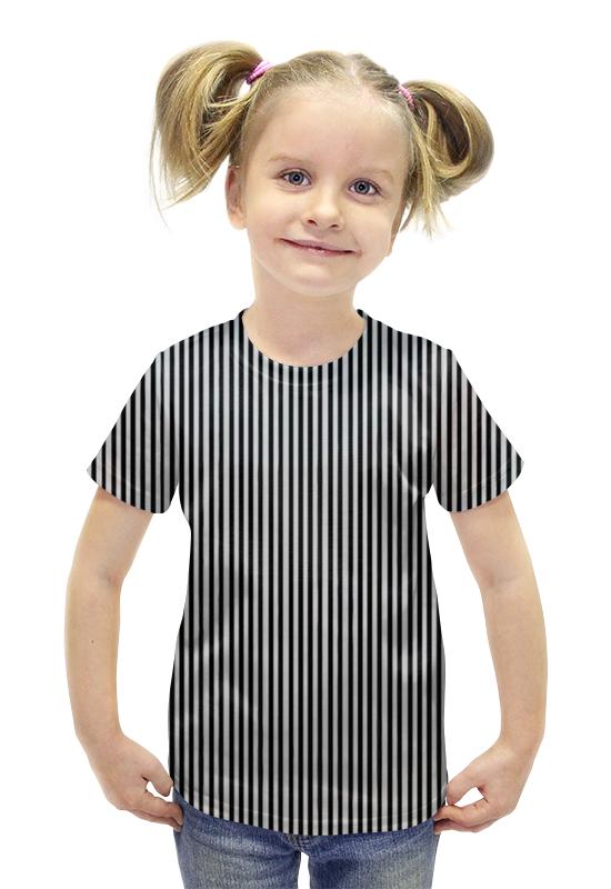 Футболка с полной запечаткой для девочек Printio Вертикальная полоска футболка с полной запечаткой для девочек printio иллюзия