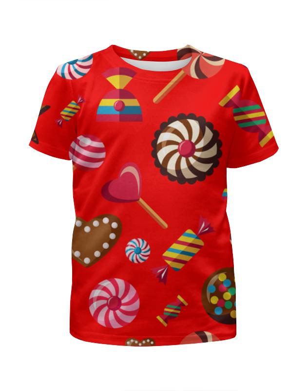 Футболка с полной запечаткой для девочек Printio Сладости футболка с полной запечаткой для девочек printio зимние забавы
