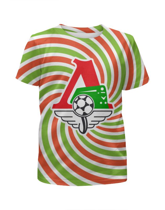 лучшая цена Футболка с полной запечаткой для девочек Printio Локомотив