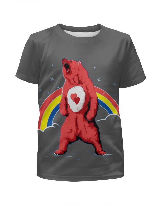 Футболка с полной запечаткой для девочек Printio Влюблённый медведь футболка с полной запечаткой для девочек printio попугаи
