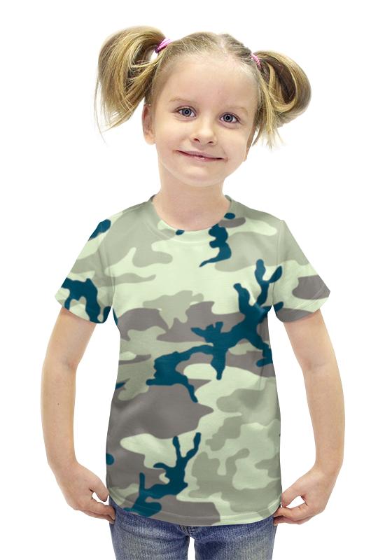 Футболка с полной запечаткой для девочек Printio Комуфляж футболка с полной запечаткой для девочек printio пртигр arsb