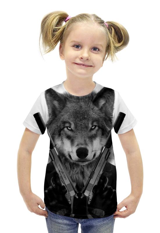 Футболка с полной запечаткой для девочек Printio Хитман футболка с полной запечаткой для девочек printio пртигр arsb