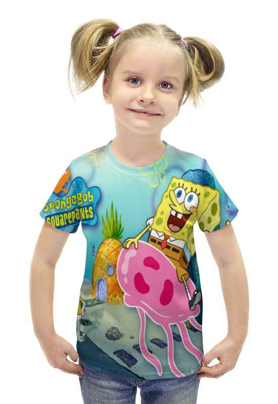 Футболка с полной запечаткой для девочек Printio Спанч боб любимый мульт герой мягкая игрушка спанч боб купить или заказать с доставкой