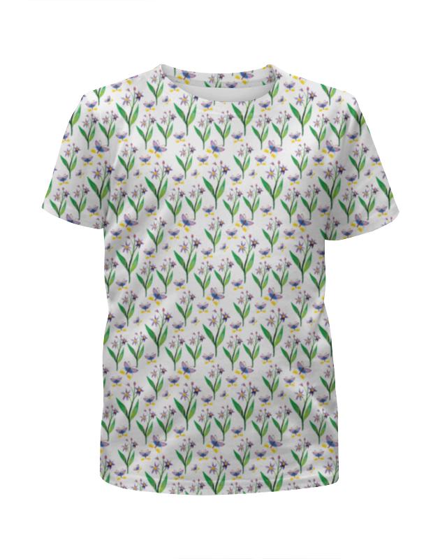 Футболка с полной запечаткой для девочек Printio Полевые цветы футболка с полной запечаткой для девочек printio пртигр arsb