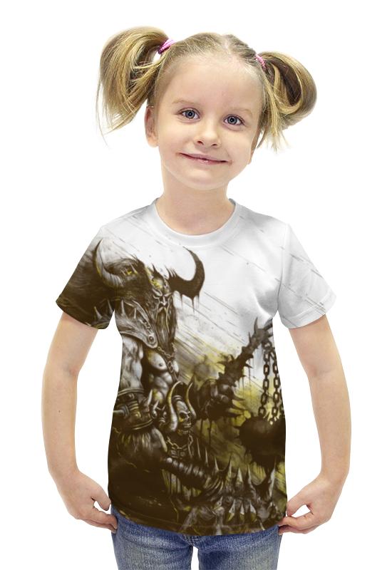 Футболка с полной запечаткой для девочек Printio Варвар футболка с полной запечаткой для девочек printio пртигр arsb