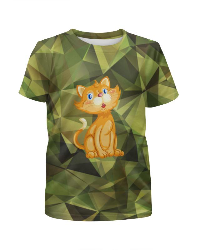 Футболка с полной запечаткой для девочек Printio Рыжий кот футболка с полной запечаткой для девочек printio кот и пес
