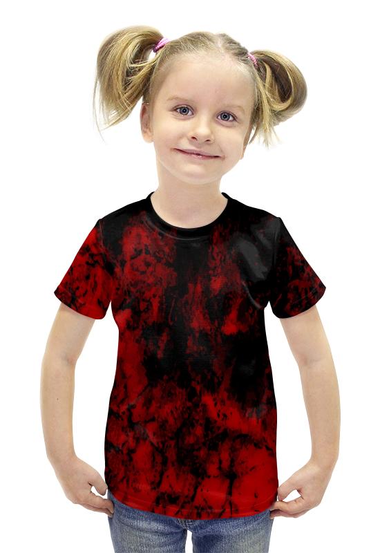Футболка с полной запечаткой для девочек Printio Черно-красный футболка с полной запечаткой для девочек printio spawn