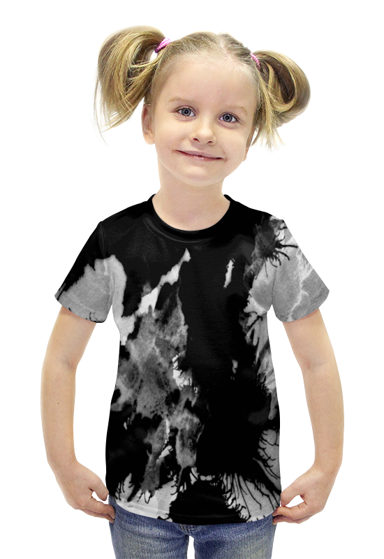 Футболка с полной запечаткой для девочек Printio Пятна футболка с полной запечаткой для девочек printio пртигр arsb