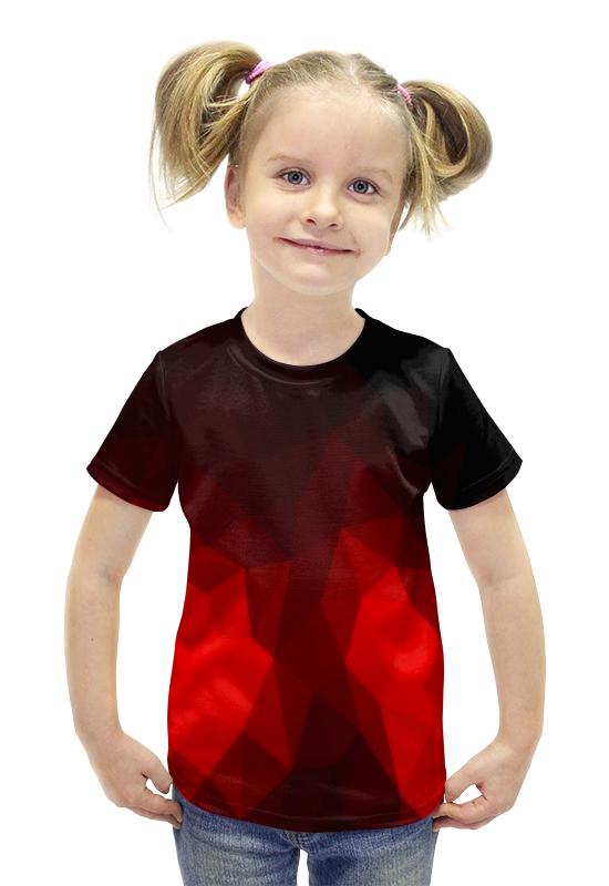 Футболка с полной запечаткой для девочек Printio Текстура футболка с полной запечаткой для девочек printio пртигр arsb