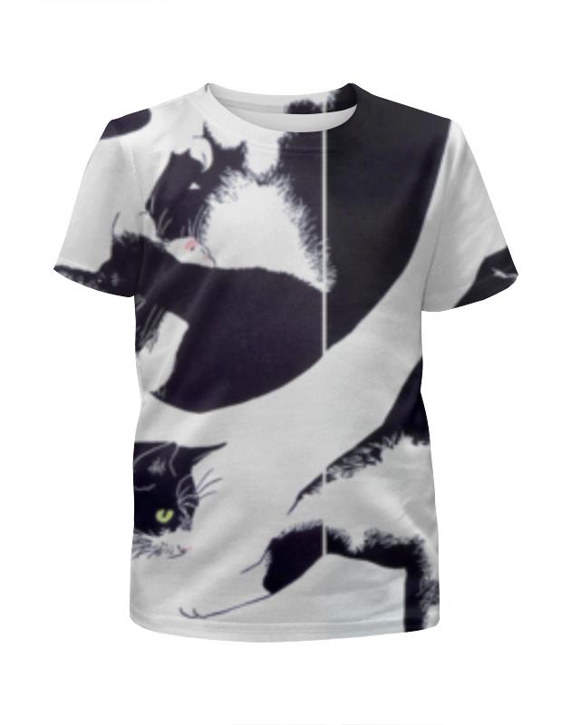 Футболка с полной запечаткой для девочек Printio Кот кот футболка с полной запечаткой для девочек printio marvel мстители