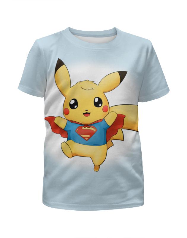 Футболка с полной запечаткой для девочек Printio Супер пикачу футболка с полной запечаткой для девочек printio дайвинг