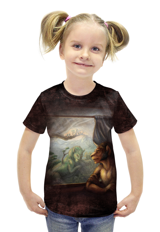 Футболка с полной запечаткой для девочек Printio Мысли о прошлом футболка с полной запечаткой printio война миров z
