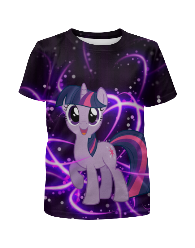 Футболка с полной запечаткой для девочек Printio My little pony футболка с полной запечаткой женская printio my little pony full print