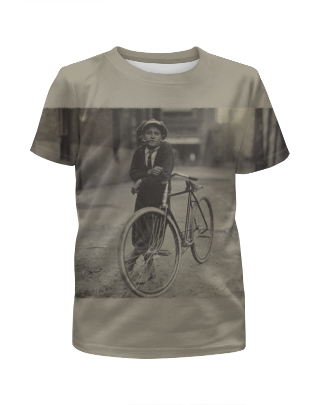 Футболка с полной запечаткой для девочек Printio Парень на велосипеде футболка с полной запечаткой для девочек printio свой парень