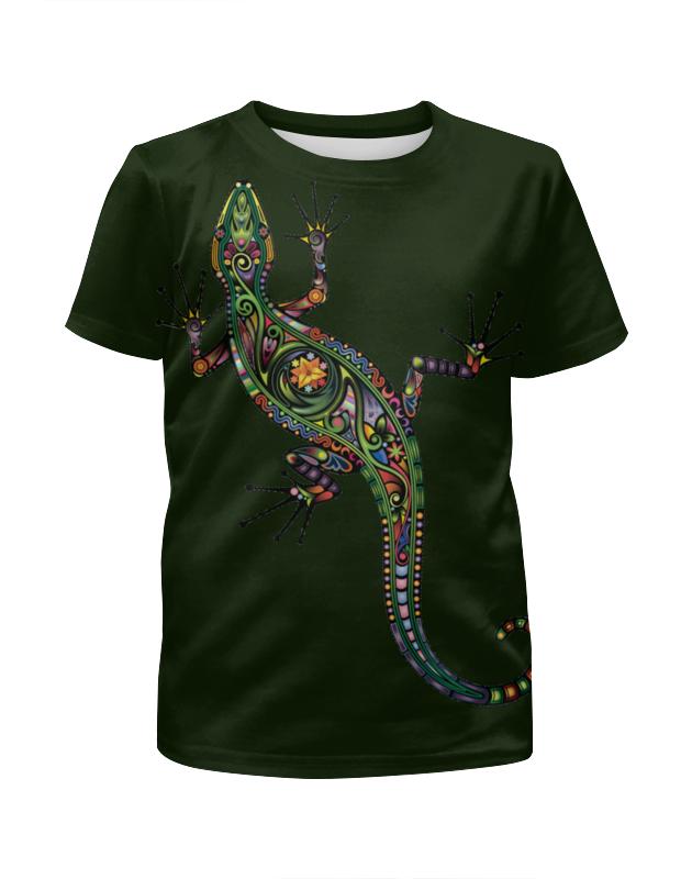 Футболка с полной запечаткой для девочек Printio Ящерица 2015 моды крюк уха gekkonidae ящерица горячей продажи серьги стержня популярные