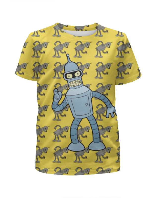 Printio Бендер футболка с полной запечаткой для девочек printio комиксы