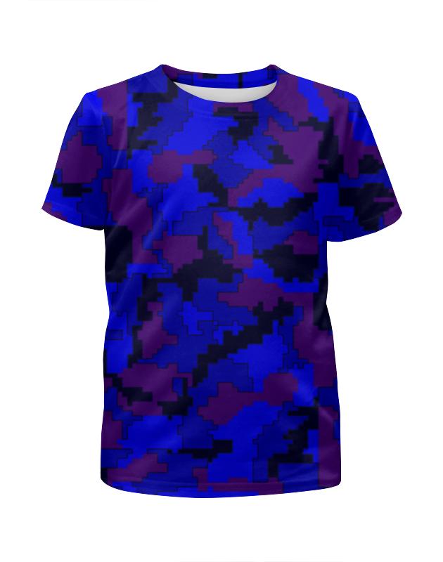 Футболка с полной запечаткой для девочек Printio Камуфляж синий футболка с полной запечаткой для девочек printio spawn