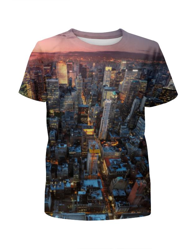Футболка с полной запечаткой для девочек Printio Нью-йорк футболка с полной запечаткой printio нью йорк никс