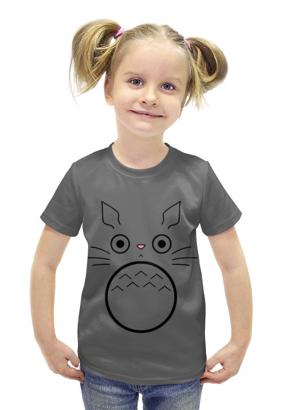 Футболка с полной запечаткой для девочек Printio Тоторо футболка с полной запечаткой для девочек printio пртигр arsb