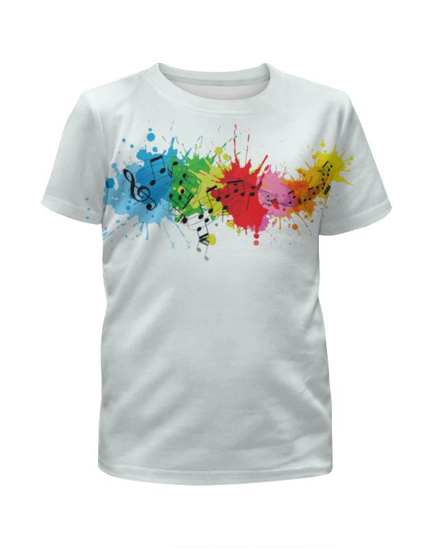 Футболка с полной запечаткой для девочек Printio Красочные ноты футболка с полной запечаткой для девочек printio пртигр arsb