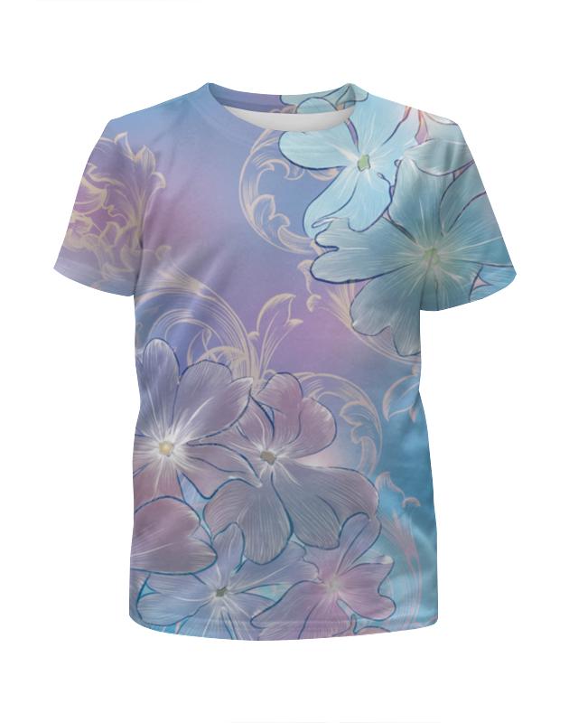 Футболка с полной запечаткой для девочек Printio Нежные цветы футболка с полной запечаткой для девочек printio нежные абстрактные цветы