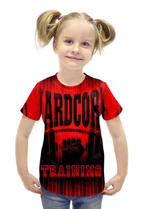 Футболка с полной запечаткой для девочек Printio Hardcore training!!! футболка hardcore training hardcore training ha020emqmf86