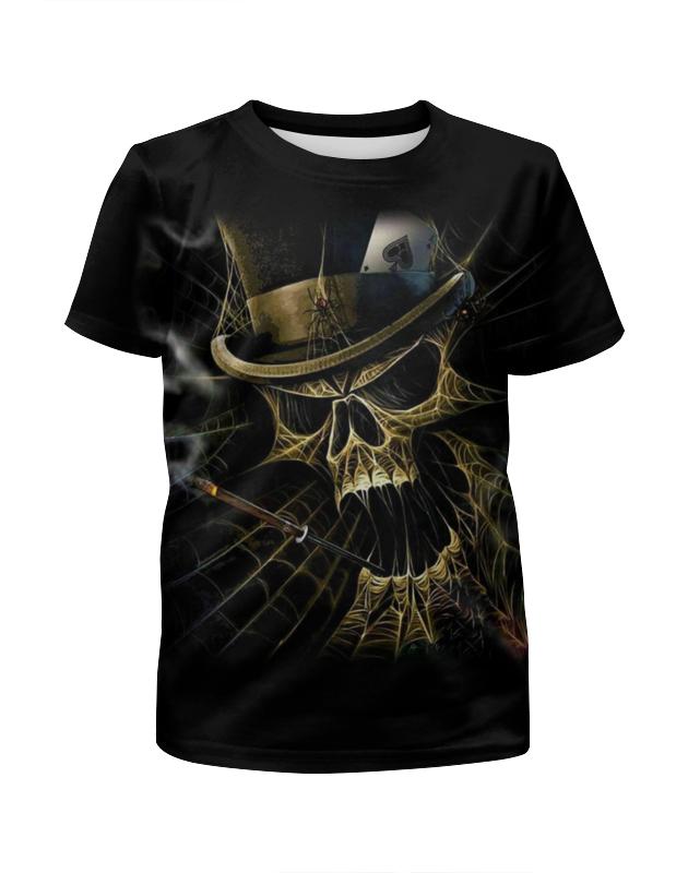 Printio Skull art футболка с полной запечаткой для девочек printio grunge skull