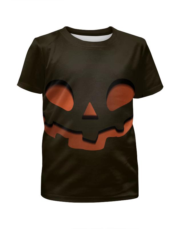 Футболка с полной запечаткой для девочек Printio Тыква (happy halloween) футболка с полной запечаткой мужская printio happy castle halloween