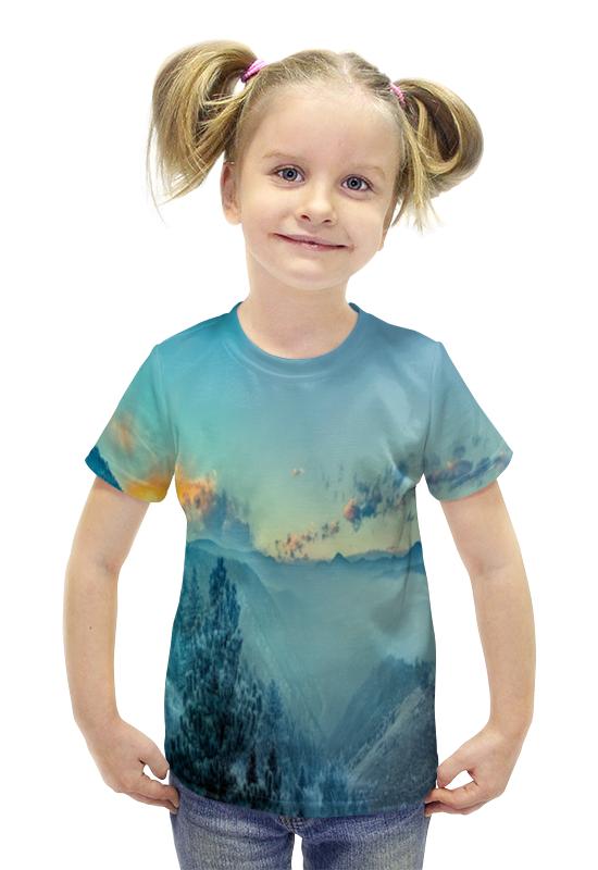 Футболка с полной запечаткой для девочек Printio Пейзаж футболка с полной запечаткой для девочек printio spawn