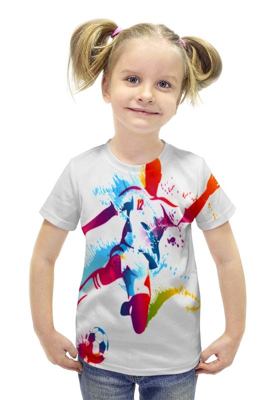 Футболка с полной запечаткой для девочек Printio Футбол футболка с полной запечаткой для девочек printio пртигр arsb