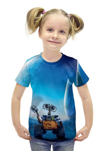 "Футболка с полной запечаткой для девочек ""WALL-E"" - машина, робот, валли, добро, wall-e"